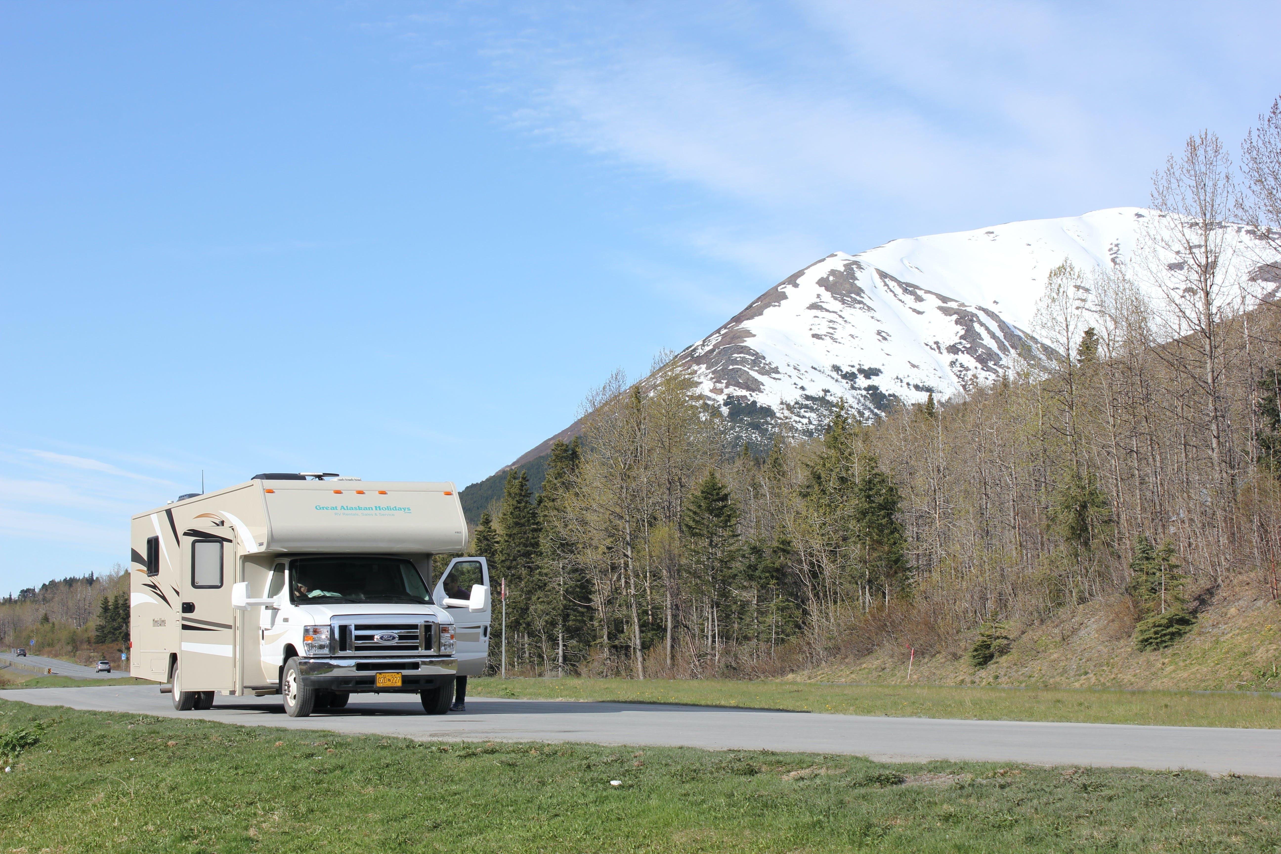 Free stock photo of alaska, open road, RV