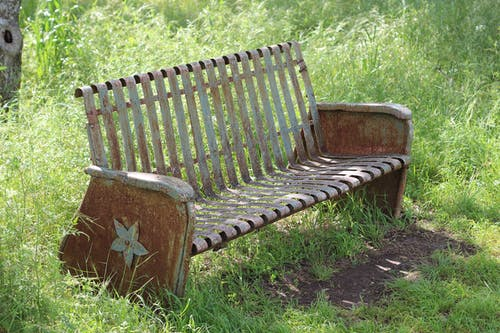 Free stock photo of antique bench, bench, park bench, rusty bench