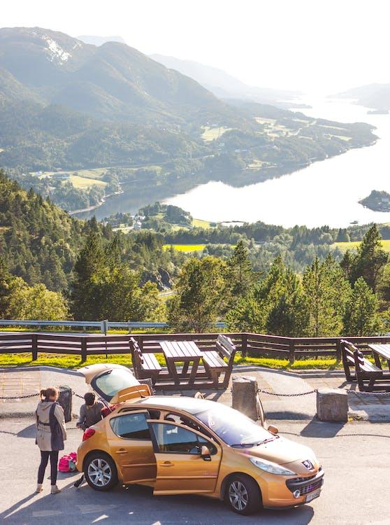 bil, ferie, fjell