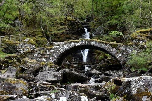 Free stock photo of bridge, glen lyon, ruined, waterfalls