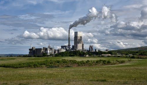 Free stock photo of cement works, cloud factory, dunbar, scotland