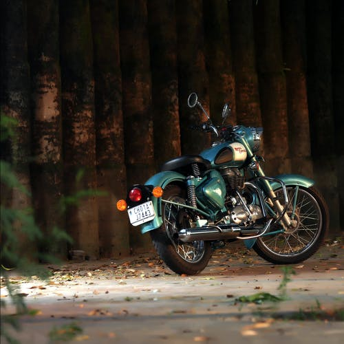 Photo of Parked Motorcycle