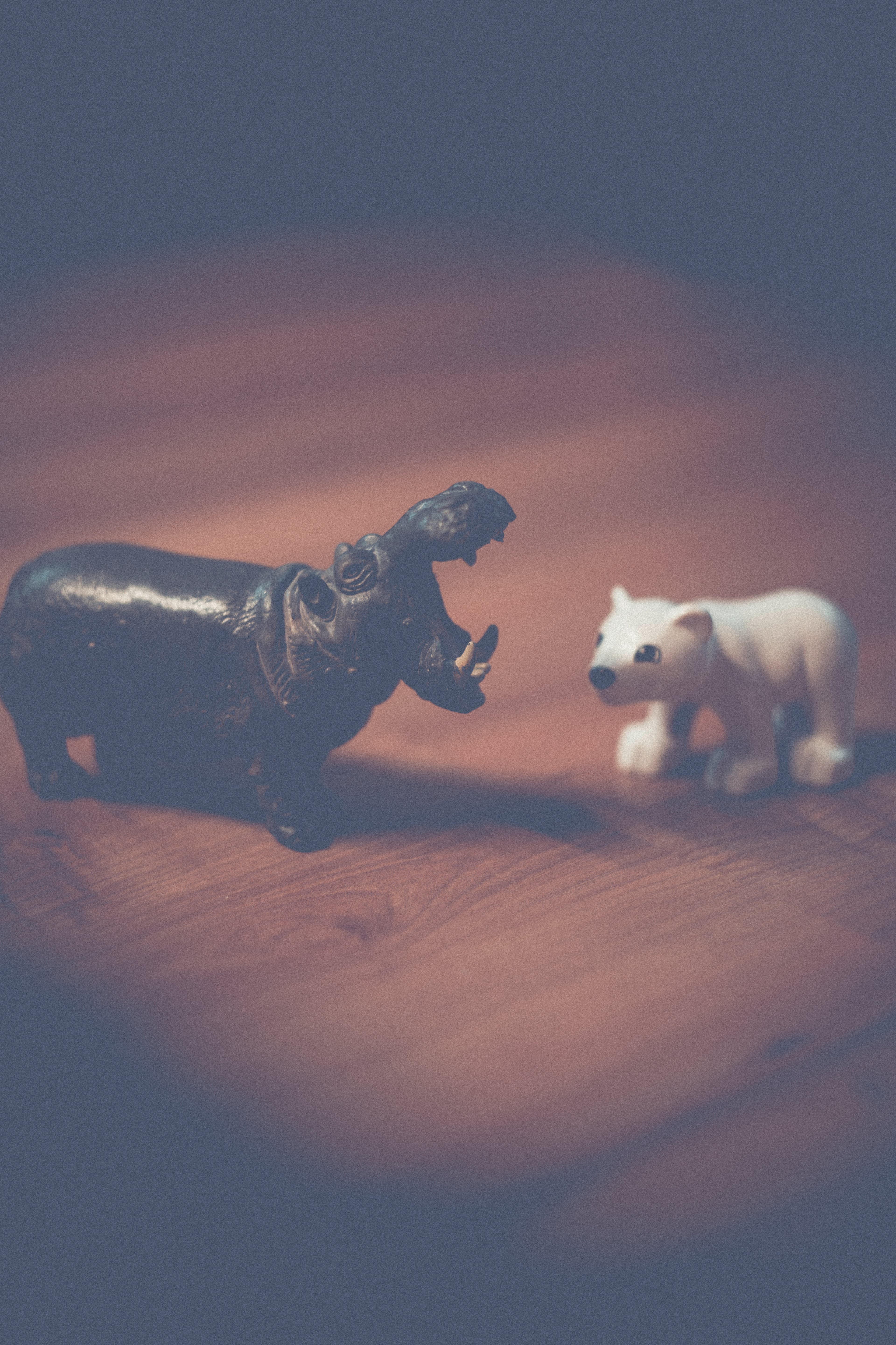 Hippo and Polar Bear Figurines