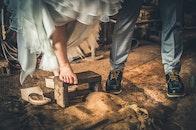 wood, man, couple
