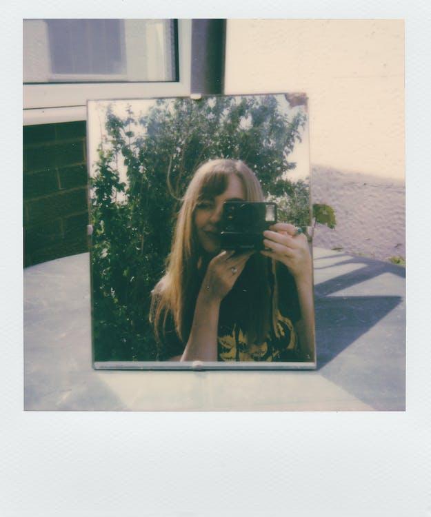polaroid, άνθρωπος, αντανάκλαση