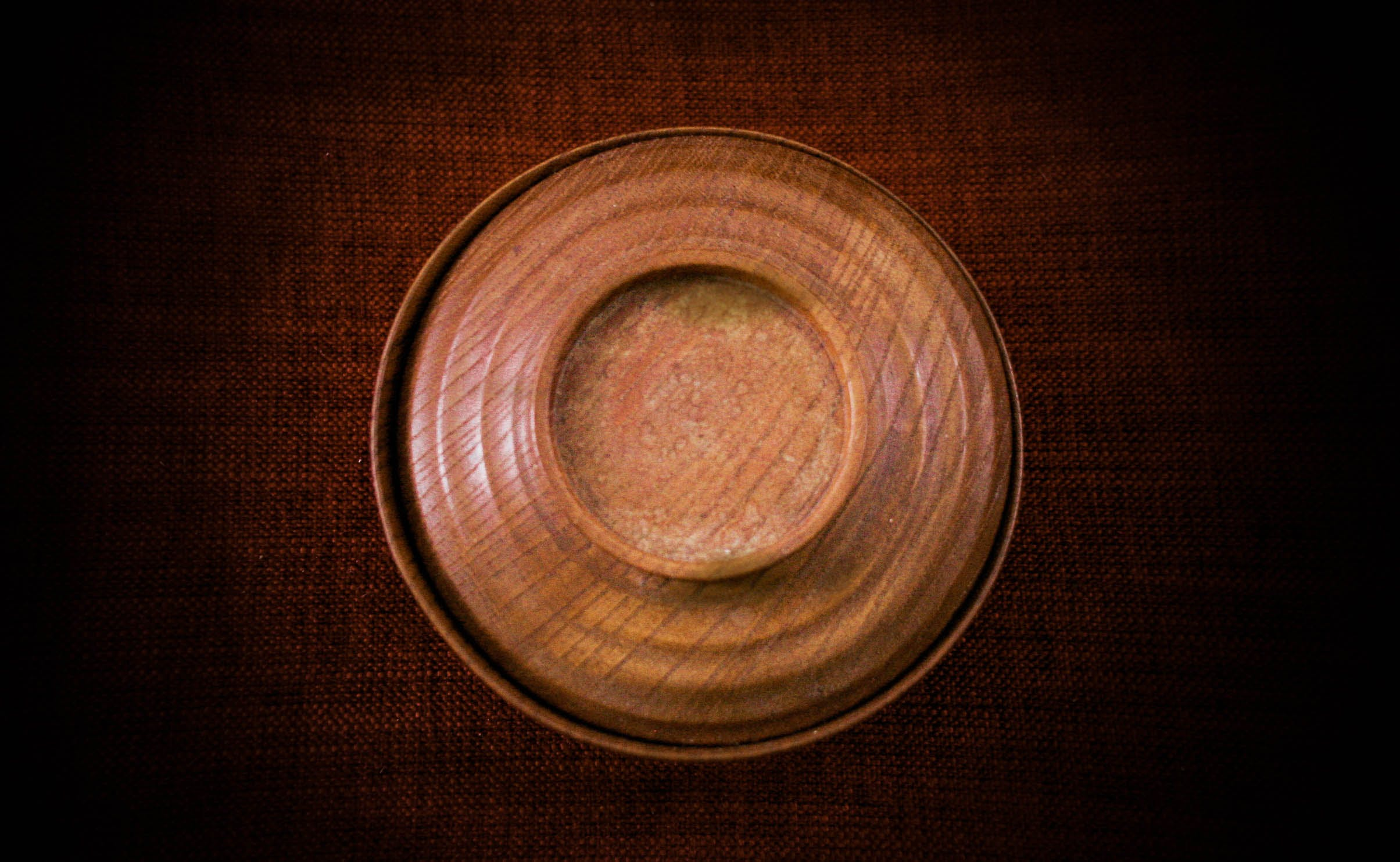 Round Brown Saucer