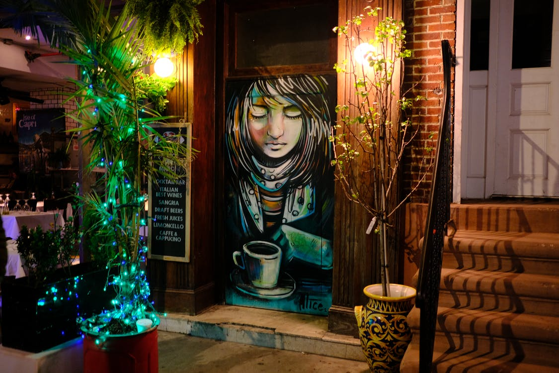 grafitti, απεικόνιση, βιτρίνα