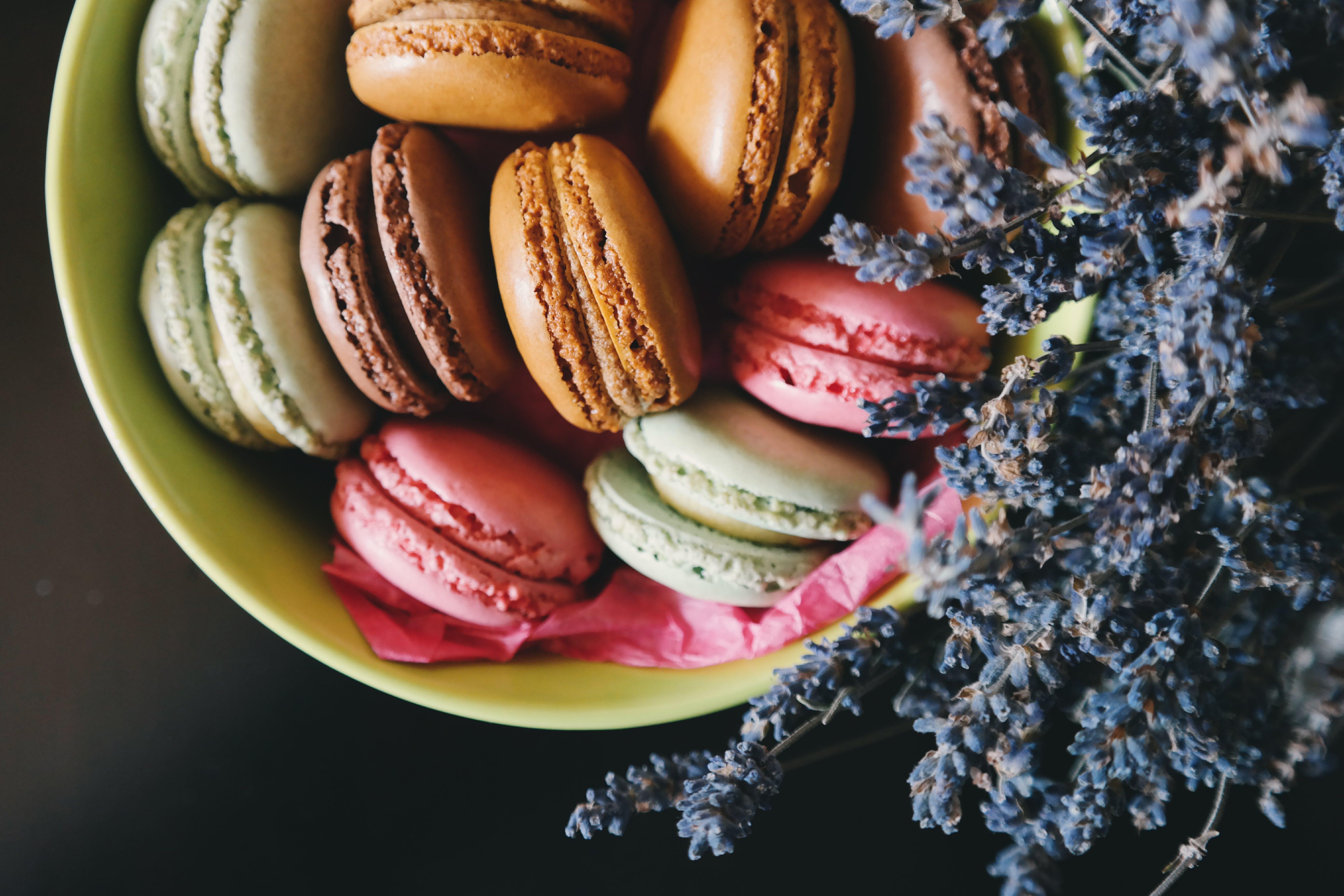 dessert, food, macaroons