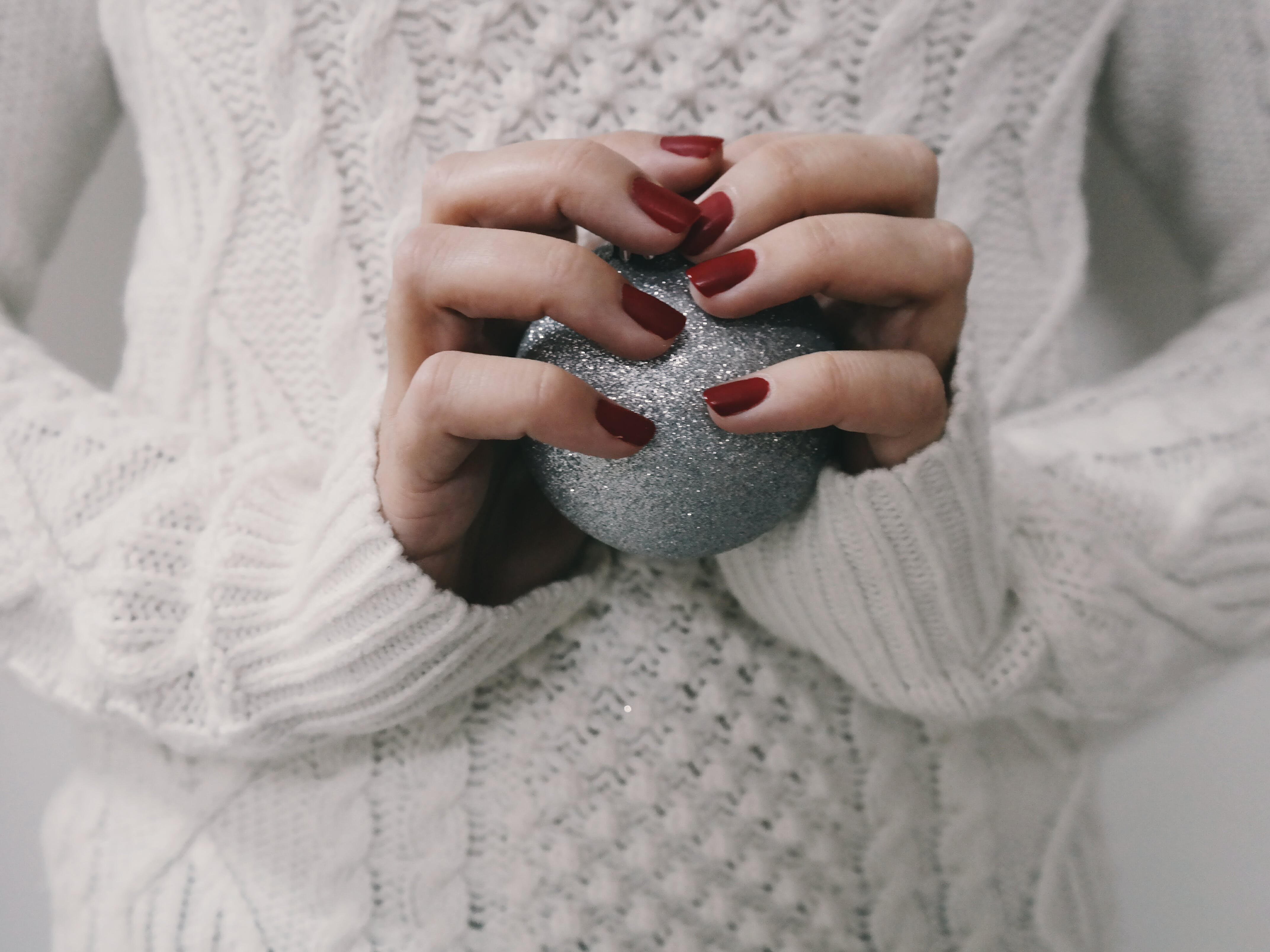 Free stock photo of hands, woman, sphere, christmas