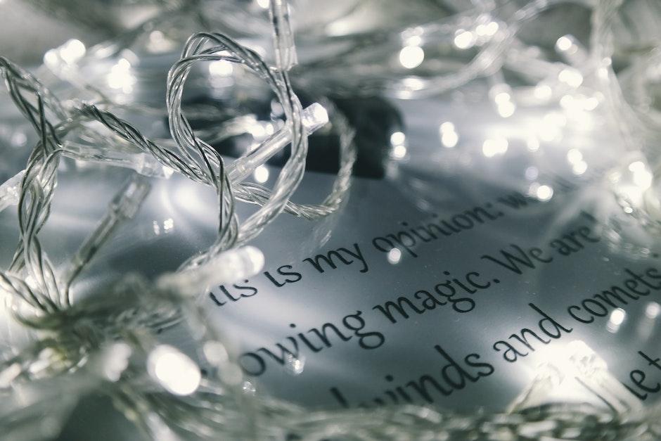 christmas lights, close-up, lights