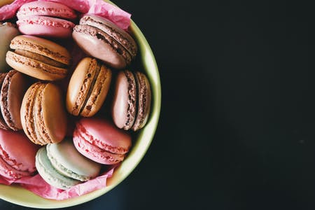 French Macarons in Bowl