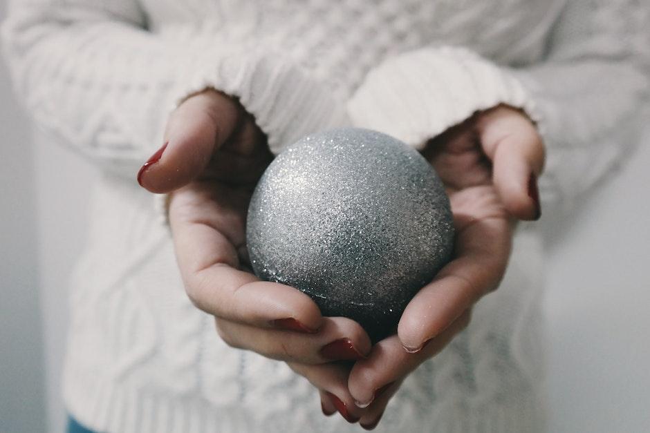 ball, blur, christmas ball