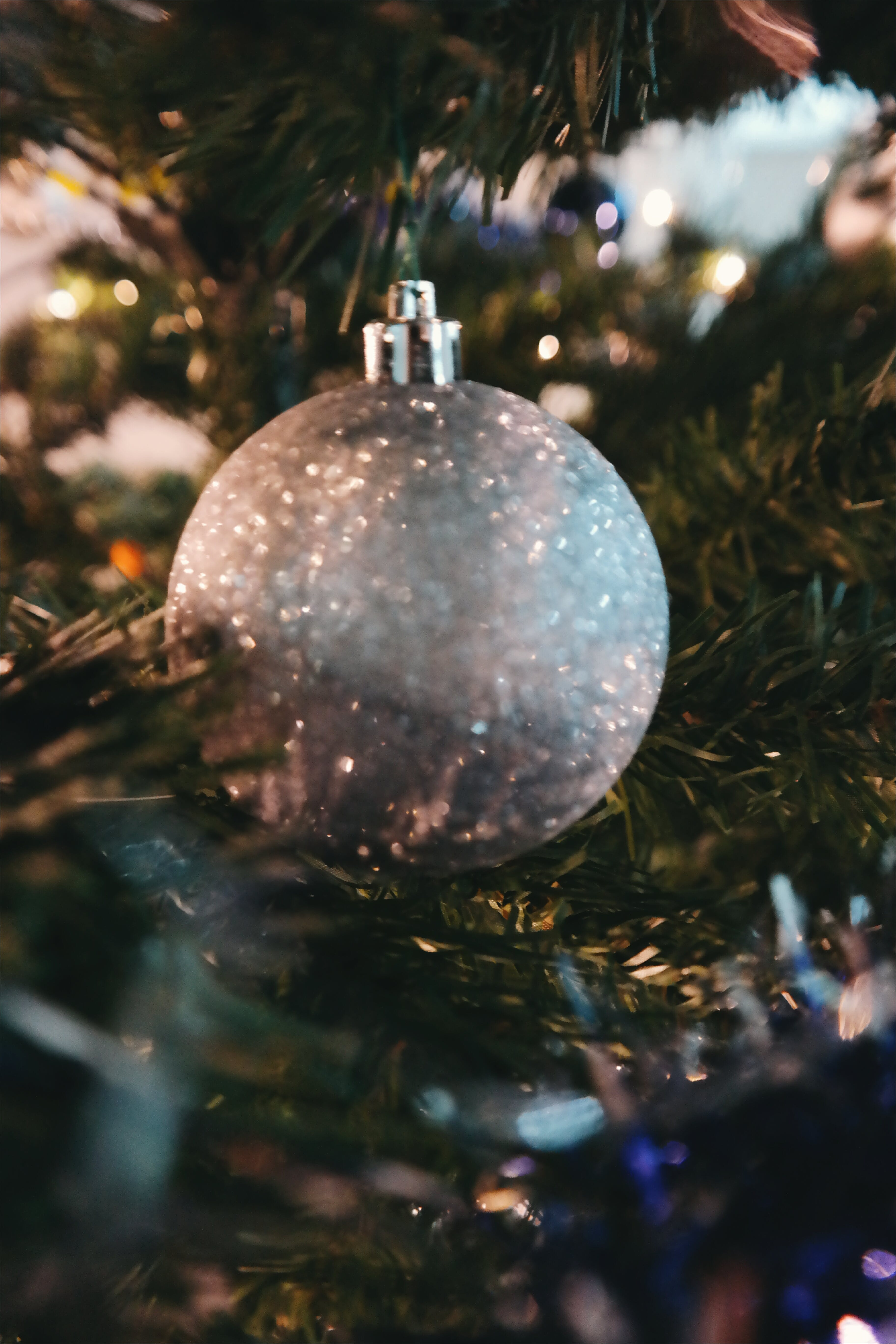Grey Bauble Decor