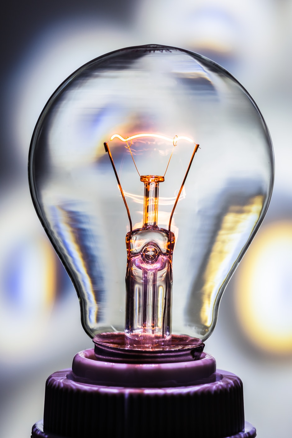 bulb, current, electric spark