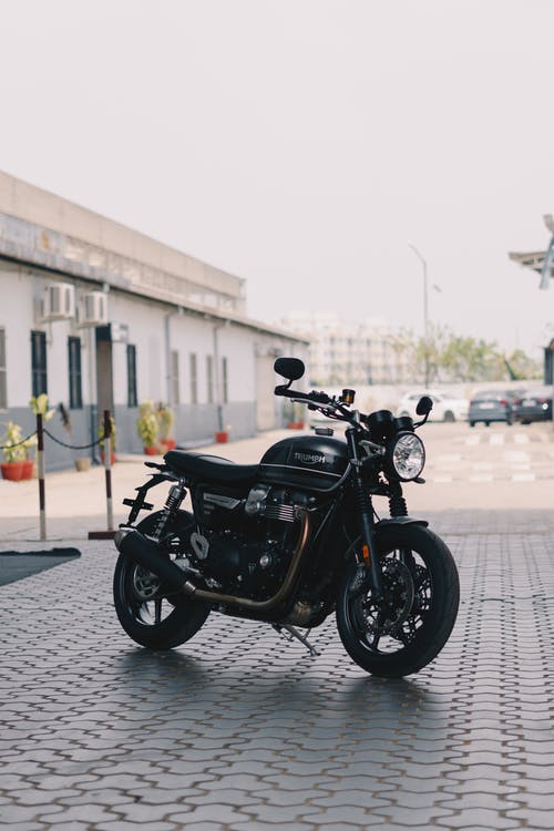 Photo of Parked Black Motorcycle