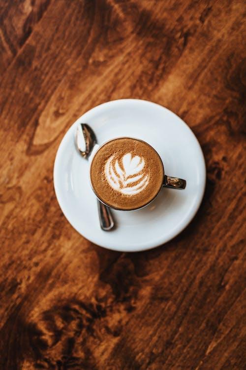 bord, cafe, cappuccino