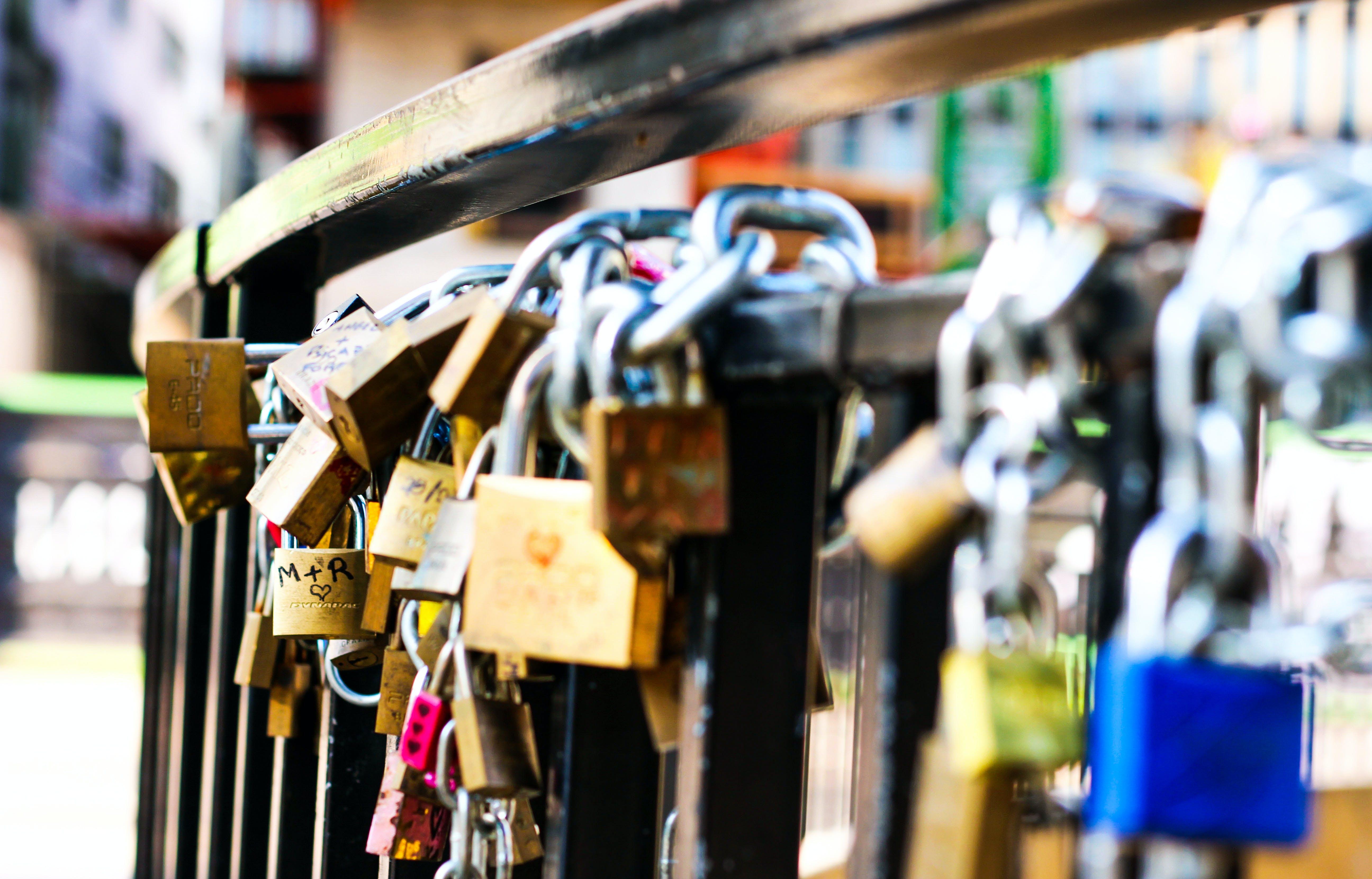 Love Locks on Hand Rail
