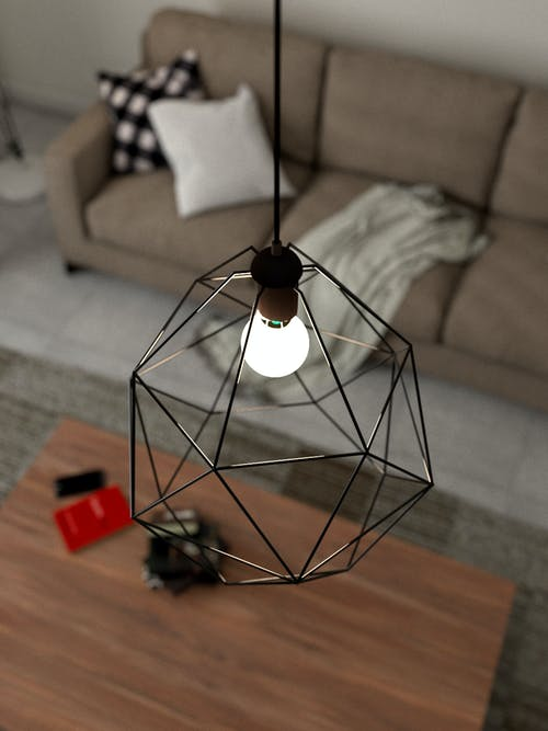 Gray Pendant Lamp