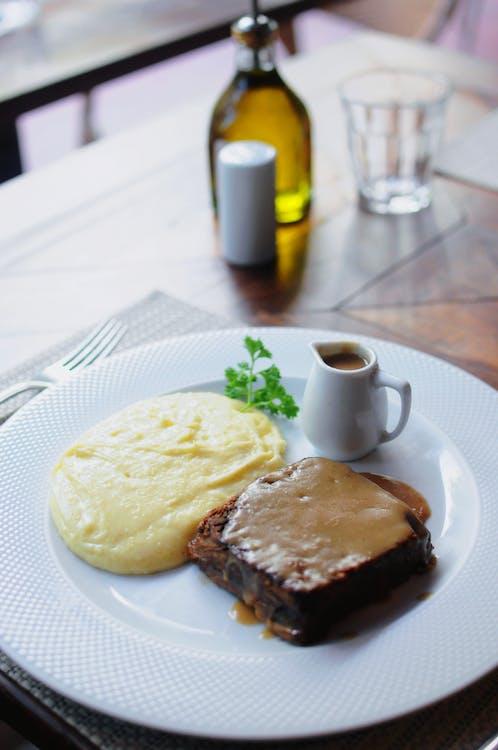 bistec, cocina, comida