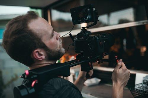 Základová fotografie zdarma na téma akce, canon, chloupky na obličeji, elektronika