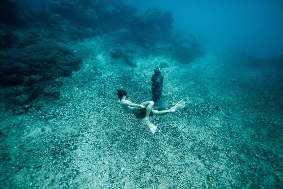 darmowe nurkowania, głęboki, indonezja
