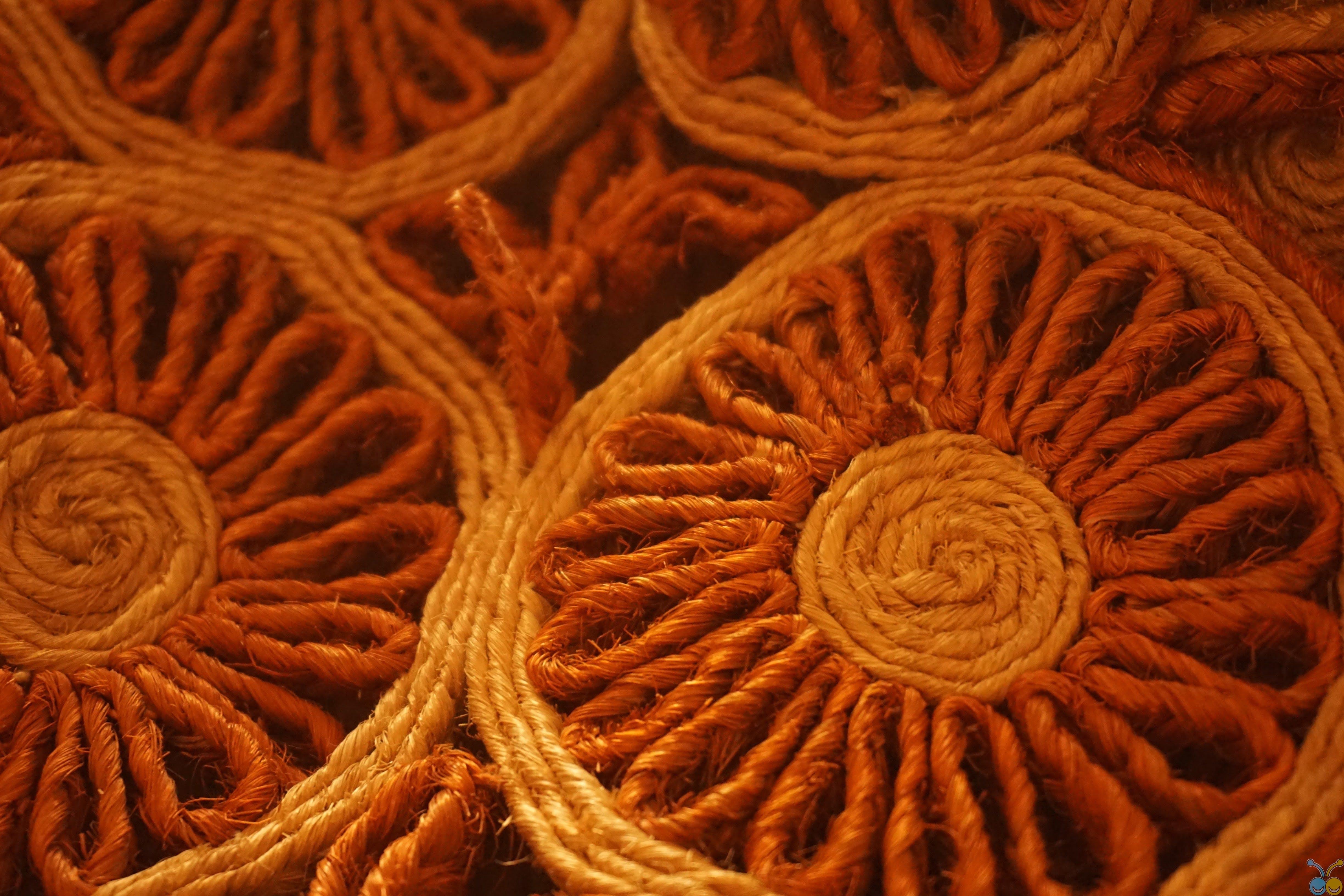Orange Crochet Textile
