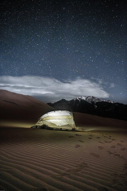 白色和黑色圓頂帳篷
