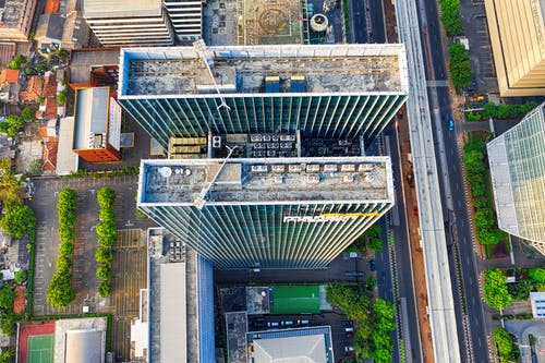 Aerial Photography of Rooftop Buildings