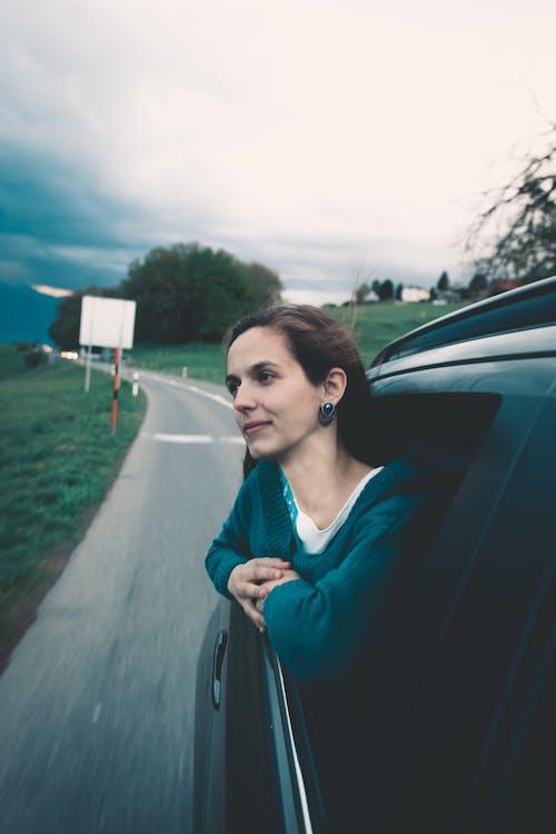 ablak, álló kép, autó
