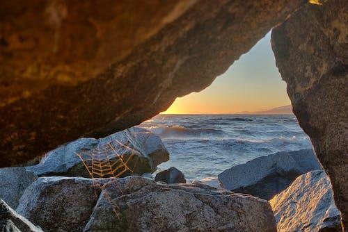 太陽, 岩石, 早上, 晚間 的 免费素材照片