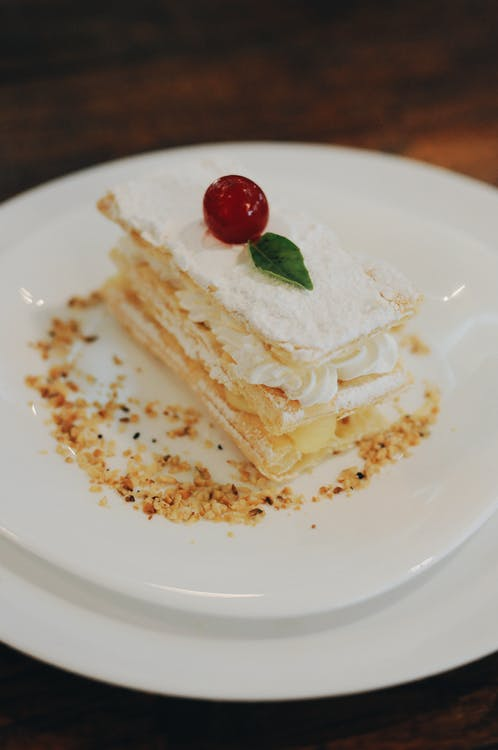 Baked Pastry on White Plate