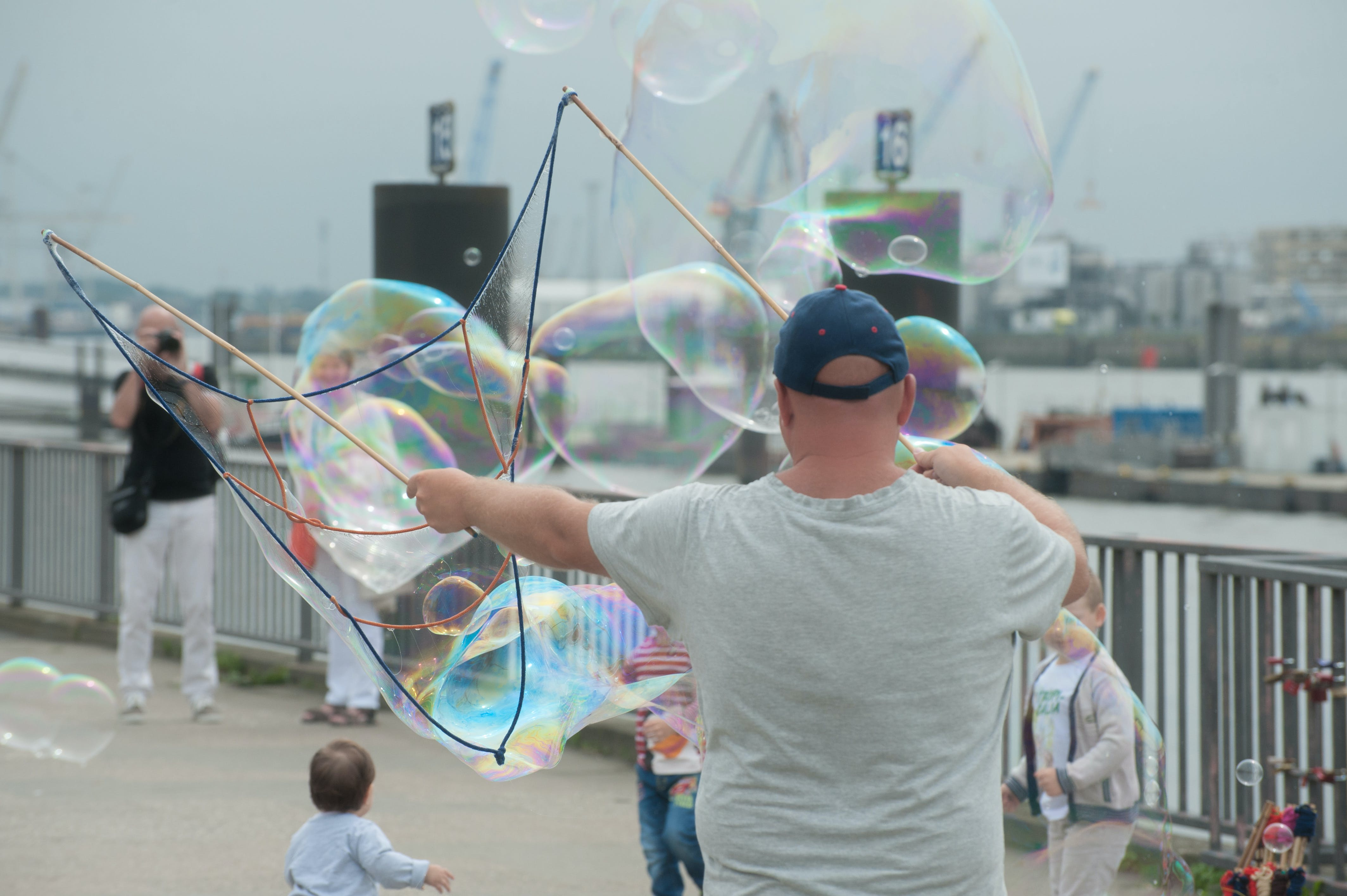 Man Making Bubbles