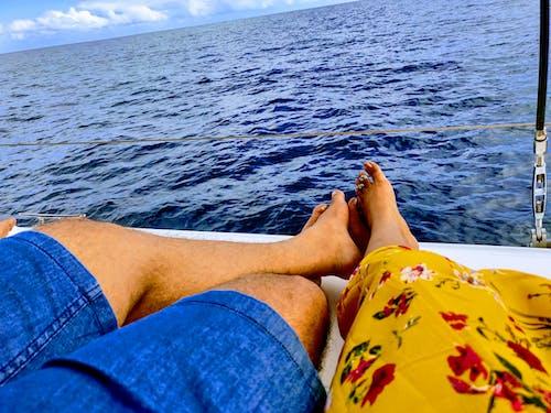 Foto d'estoc gratuïta de cames, cames creuades, creuer, oceà blau