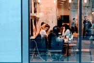 city, restaurant, people