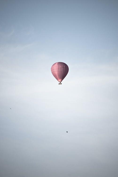 воздушный шар, небо, облака