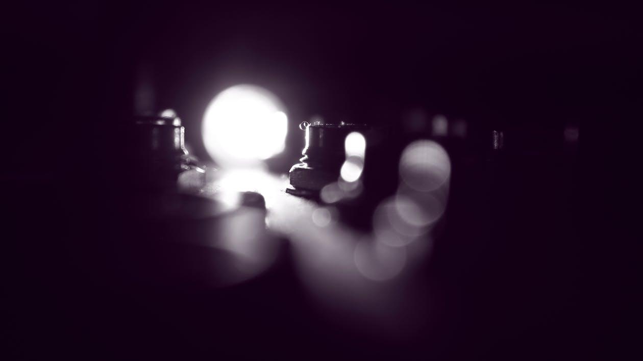 White Bokeh Lights Close-up Photography