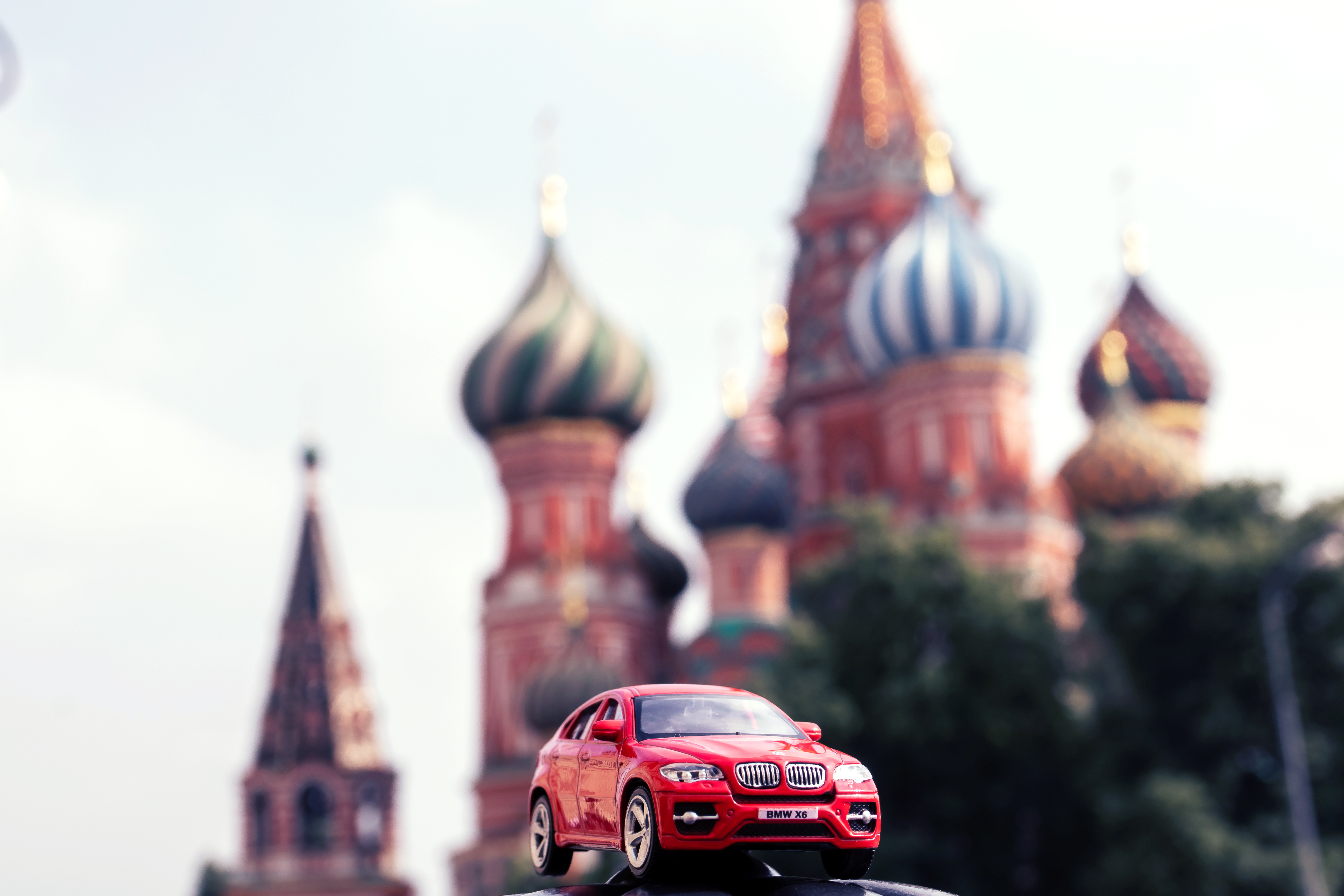 Red Car Scale Model