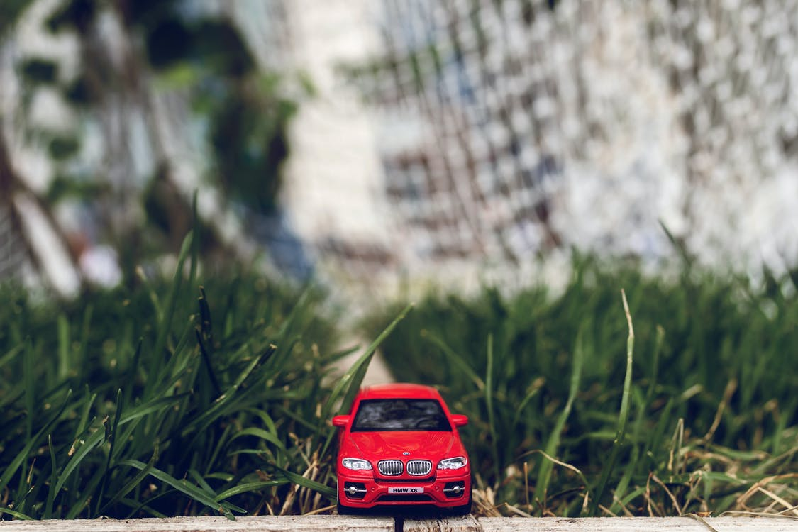 Red Car Toy on Green Grass