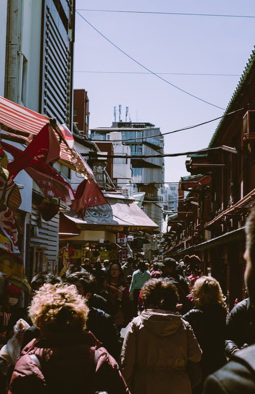 Urban Photo of a Crowd in a Marketplace