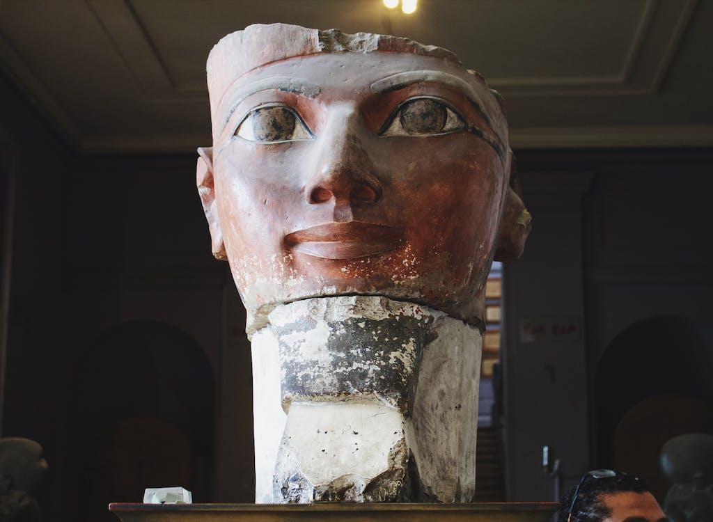 Musée Égyptien Du Caire Statue Inside Museum