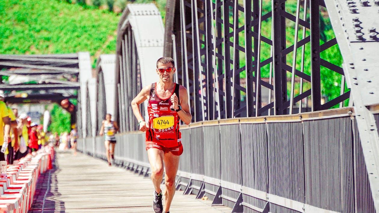 Man Running at Bridge