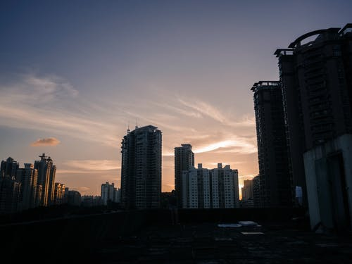 Urban Photo of a City Skyline at Sunrise