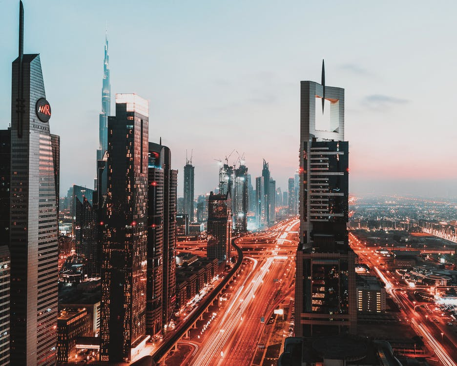 bắn góc cao, các Tiểu Vương Quốc Ả Rập Thống Nhất, các tòa nhà