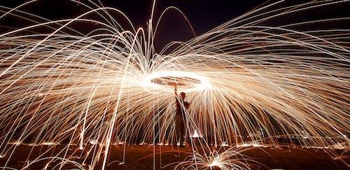Gratis lagerfoto af aften, belyst, bevægelse, brænde