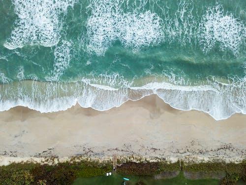 ドローンカメラ, ドローン撮影, ビーチ, 上面図の無料の写真素材