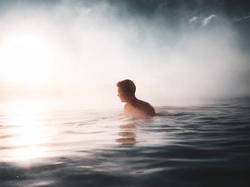 Gratis lagerfoto af bølger, dagslys, dis, hav