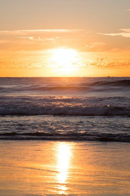 Immagine gratuita di acqua, alba, mare, natura