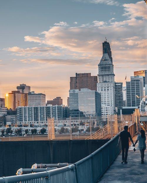 カップル, シティ, ビジネス, ファイナンスの無料の写真素材