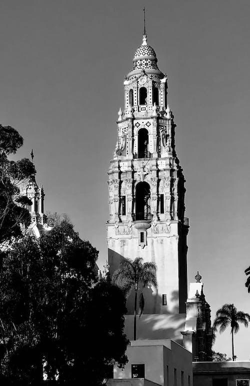 Ingyenes stockfotó egyszínű, építészet, épület, fekete-fehér fényképezés témában