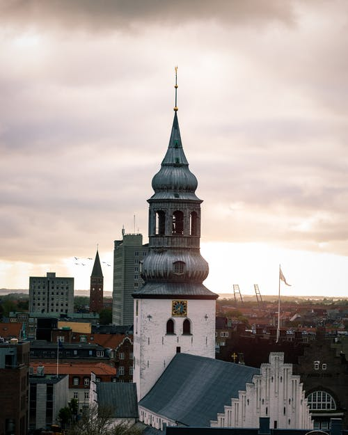 Free stock photo of Church in the middle of Aalborg
